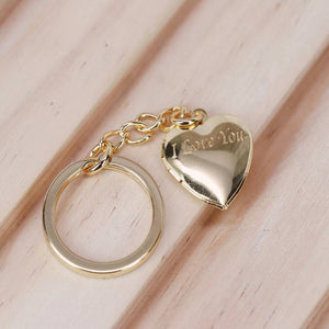 """I Love You"" Heart Locket Keychain"