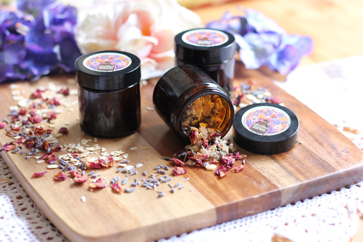 Clarified Himalayan Salt Scrub 50g (Feat. Lavender, Geranium and Frankincense)