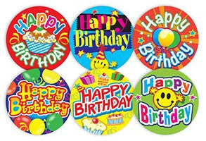 #554 Happy Birthday Stickers Multipack