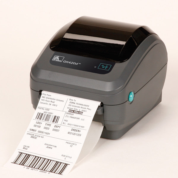 Zebra GK420 direct thermal printer- ethernet