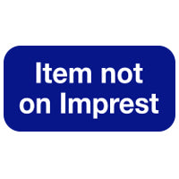 Item not on Imprest