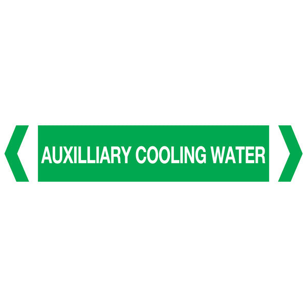 Auxilliary Cooling Water labels