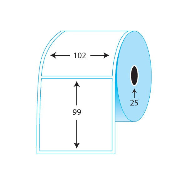 102x99mm Thermal Direct labels (500/ roll)