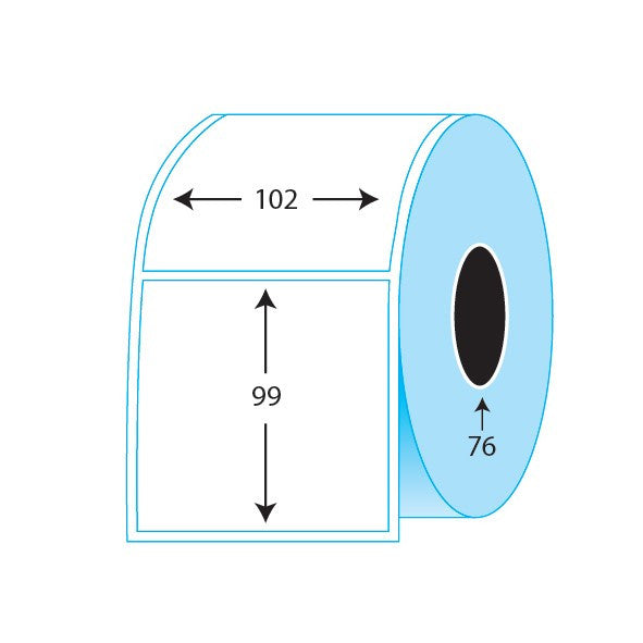 102x99mm Thermal Direct labels (1,000/ roll)