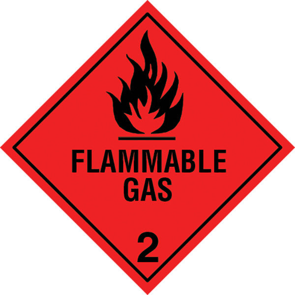 Class 2.1 Flammable Gas labels