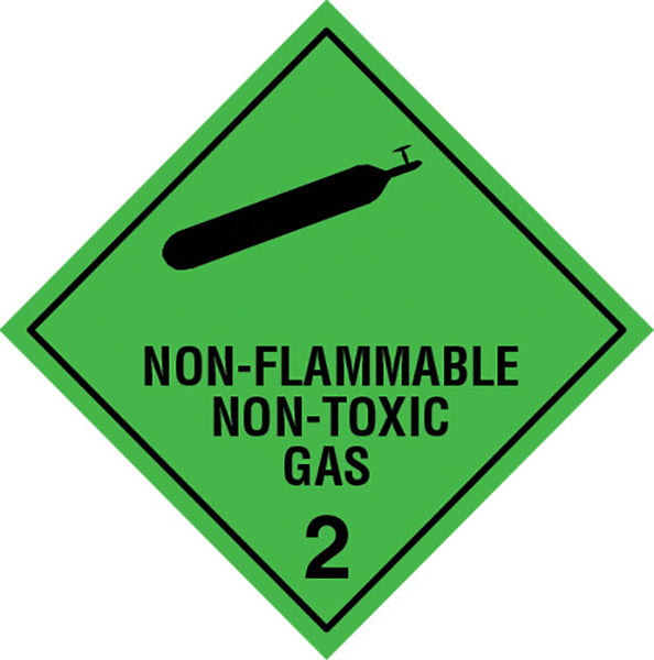 Class 2 2 Non Flamable Nontoxic Gas Labels Slicker Stickers