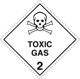 Class 2.3 Toxic Gas labels