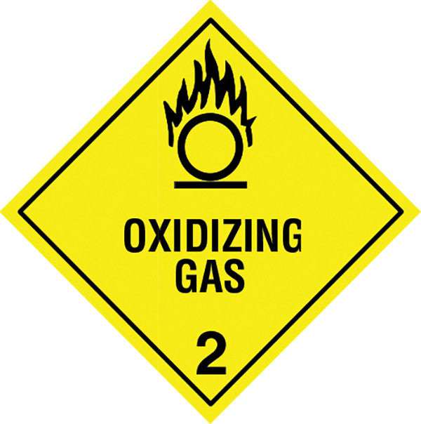 Class 2 5 Oxidizing Gas Labels Slicker Stickers