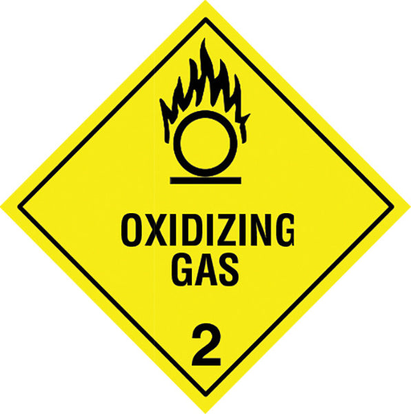 Class 2.5 Oxidizing Gas labels