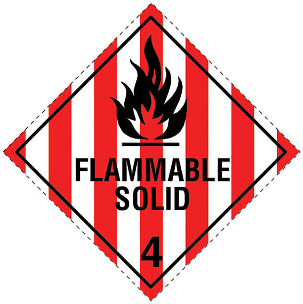 Class 4.1 Flammable Solid labels