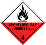 Class 4.2 Spontaneously Combustible labels