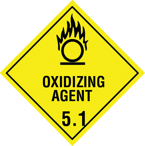 Class 5.1 Oxidizing Agent labels