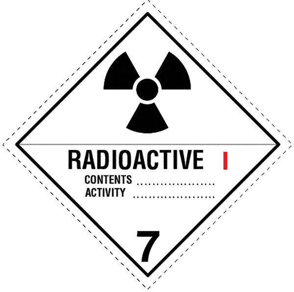 Class 7.1 Radioactive labels