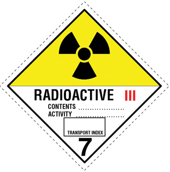 Class 7.0c Radioactive labels