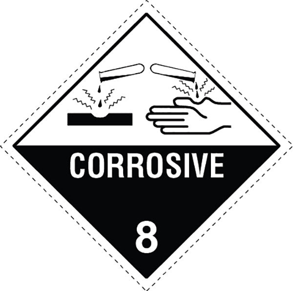Class 8 0 Corrosive Labels Slicker Stickers