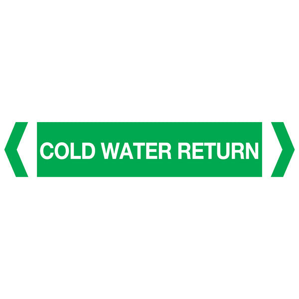 Cold Water Return labels