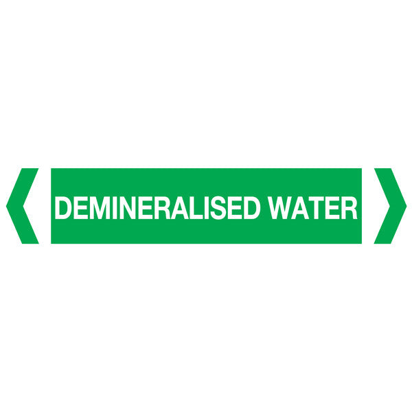 Demineralised Water labels