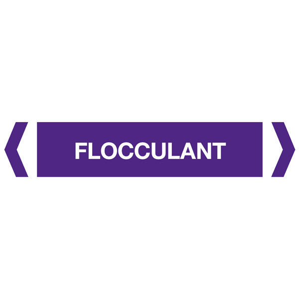 Flocculant labels