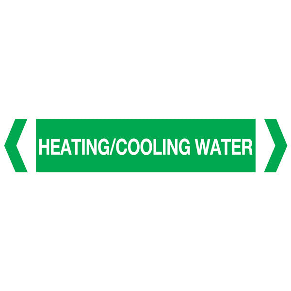Heating Cooling Water labels