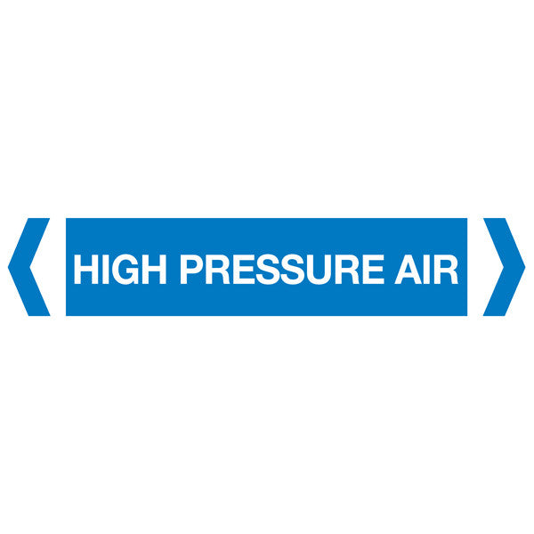 High Pressure Air labels