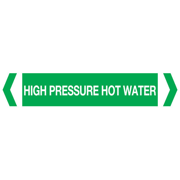 High Pressure Hot Water labels