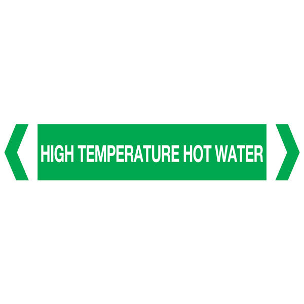 High Temp Hot Water labels
