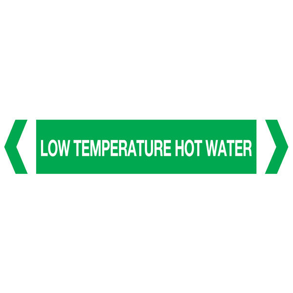 Low Temp Hot Water labels
