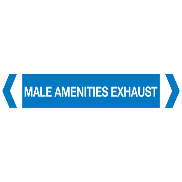 Male Amenities Exhaust labels