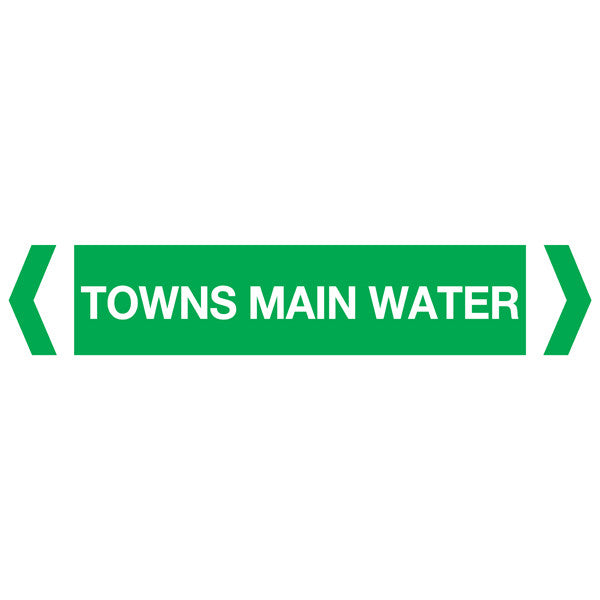 Towns Main Water labels