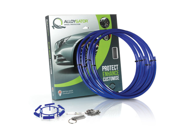 Blue AlloyGator Wheel Protectors Set of 4