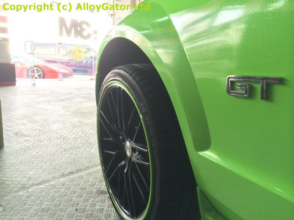 Green AlloyGator Wheel Protectors Set of 4