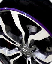 Purple AlloyGator Wheel Protectors Set of 4