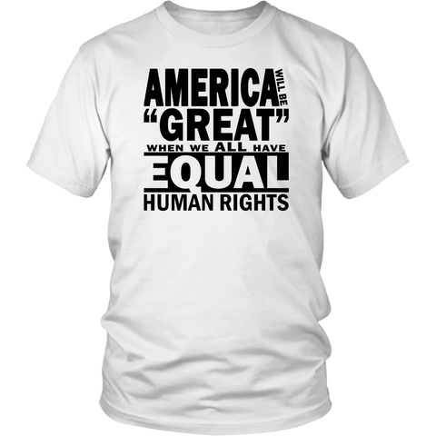"Youth & Adult Tee ""How To Make America Great"" (black ink)"