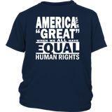 "Youth & Adult Tee ""How To Make America Great"" (white ink)"