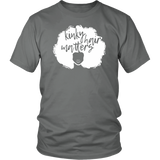"Youth & Adult Tee ""Kinky Hair Matters"" (white ink)"