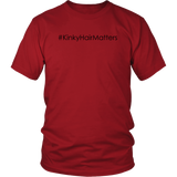 "Youth & Adult Tee ""#KinkyHairMatters"" (black print)"