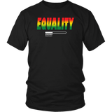 "Youth & Adult Tee ""Black Equality Loading"" (white ink)"