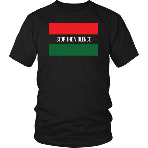 "Youth & Adult Tee ""Stop The Violence"" (white ink)"