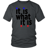 "Youth & Adult Tee ""It Is What It Is"" (black ink)"