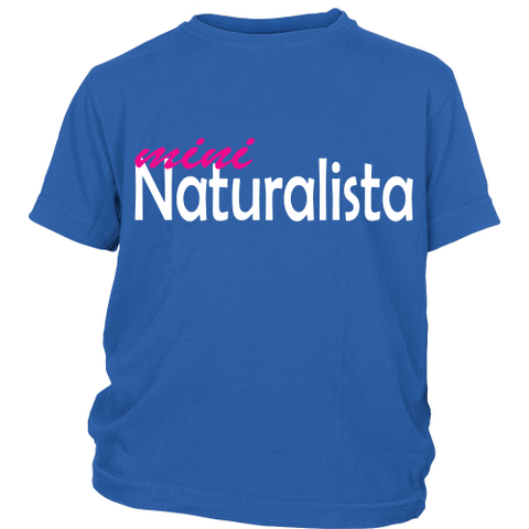"Youth Tee ""Mini Naturalista"" (white print)"