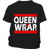 "Youth Tee ""Queen of Wraps"" (white print)"