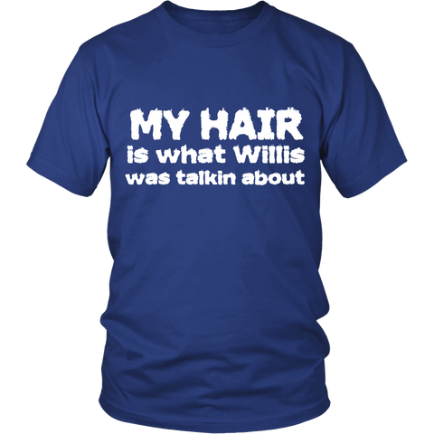 "Youth & Adult Tee ""Willis"" (white print)"