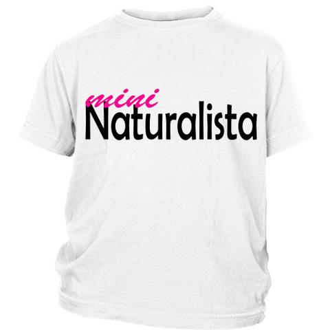 "Youth Tee ""Mini Naturalista"" (black print)"