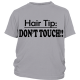 "Youth Tee ""Hair Tip"" (black print)"