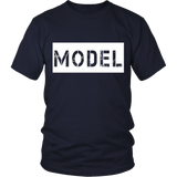 "Youth & Adult Tee ""Model"" (white print)"