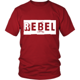 "Youth & Adult Tee ""Rebel"" (white print)"