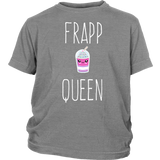 "Youth Tee ""Frapp Queen"" (white print)"