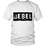 "Youth & Adult Tee ""Rebel"" (black print)"