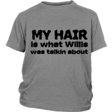 "Youth & Adult Tee ""Willis"" (black print)"