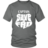 "Adult Tee ""Captain Save A Fro"" (white print)"